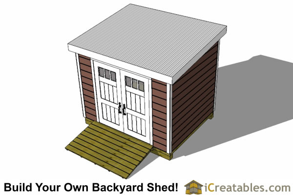 7x10 Lean To Shed Plans | Storage Shed Plans | icreatables.com