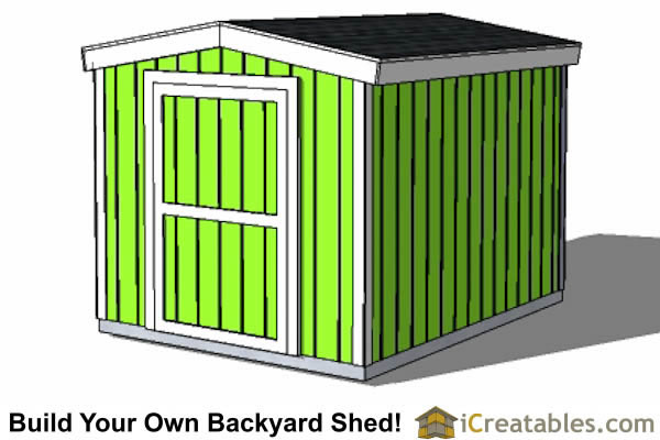 8x12 8 foot tall backyard shed short