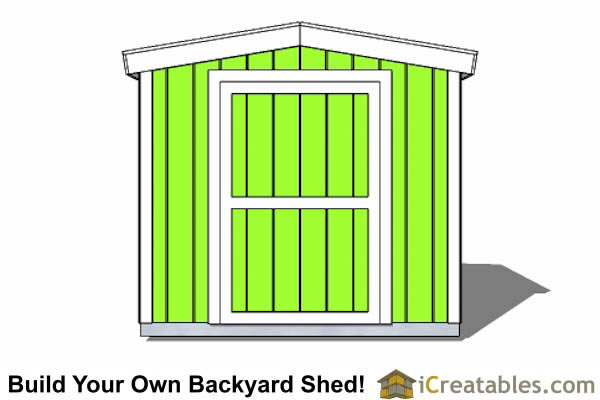 8x12 8 foot tall shed plans front