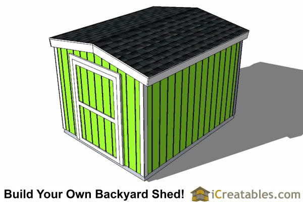 8x12 8 foot tall shed plans top