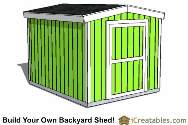 8x1 short shed plans front