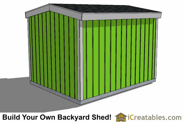 8x12 8 foot tall shed plans side door rear