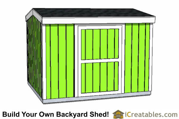 8x12 8 foot tall shed plans side door