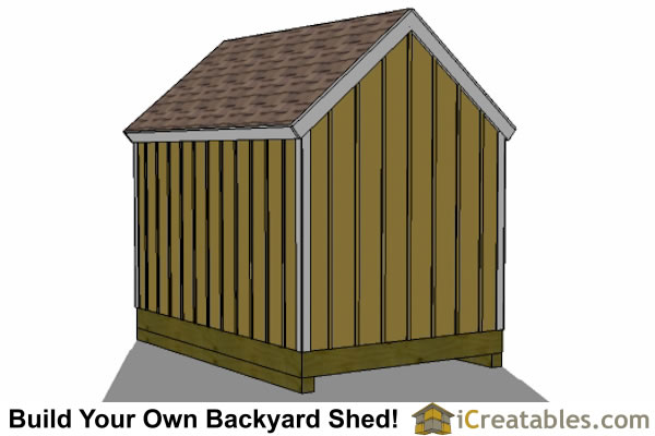 8x12 cape cod style shed rear view