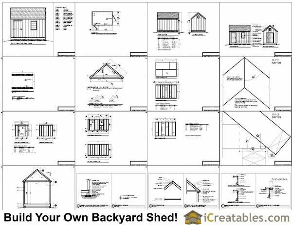 8x12 cape cod shed plans storage shed plans for Cape cod shed plans