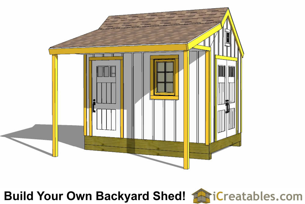 8x12 cape cod shed plans with porch