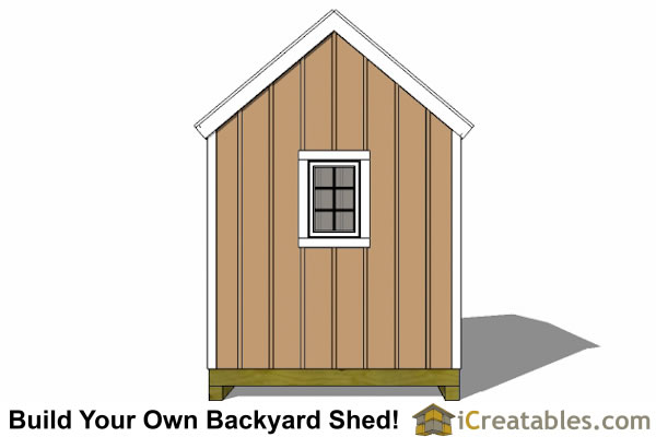 8x12 large door shed end window  plans