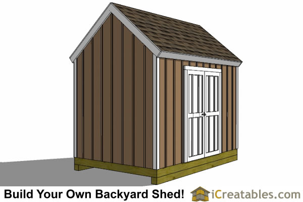8x12 colonial large door shed plans backyard storage for Large shed plans