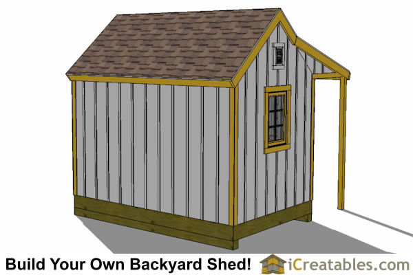 8x12 colonial shed with porch garden shed shed with porch for Colonial shed plans