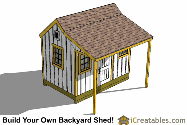 8x12 cape cod storage shed plan top