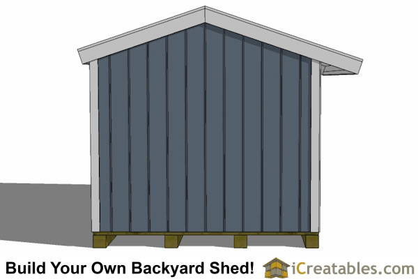 8x12 firewood shed end view