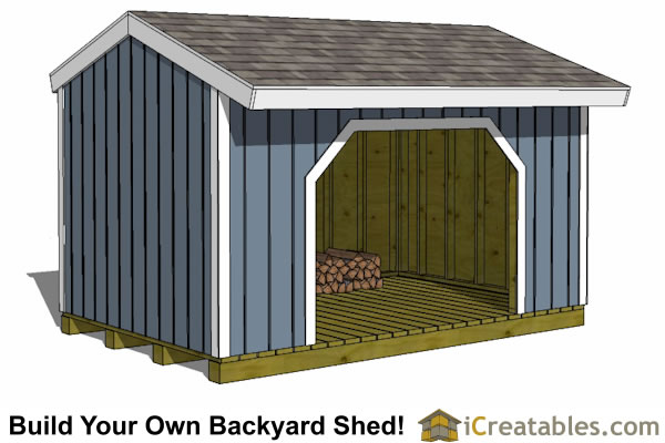 8x12 firewood shed plans with no wood