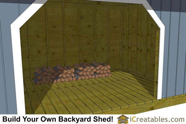 large firewood shed plans inside