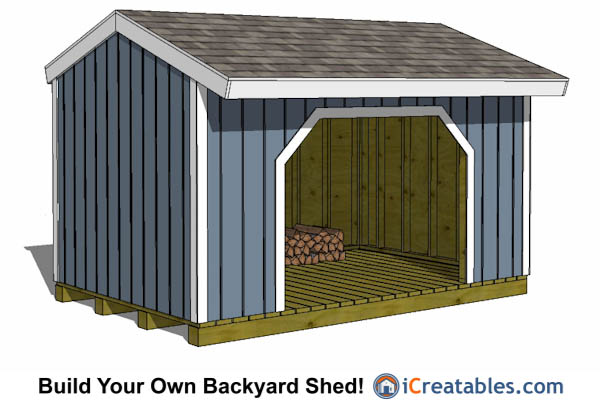 8x10 firewood shed