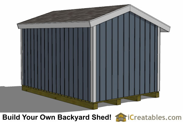 8x12 firewood shed rear view