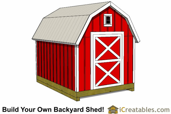 8x12 gambrel barn shed