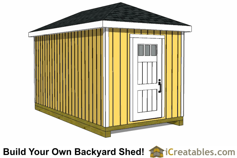 8x12 Shed Plans - Buy Easy to Build Modern Shed Designs