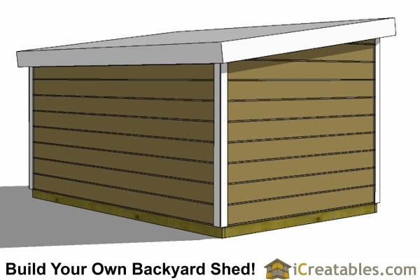 8x12 short 8 foot  lean to shed plans rear
