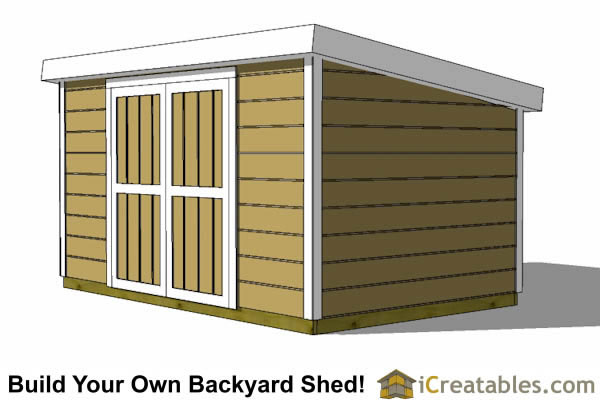 8x12 short 8 foot  lean to shed plans front
