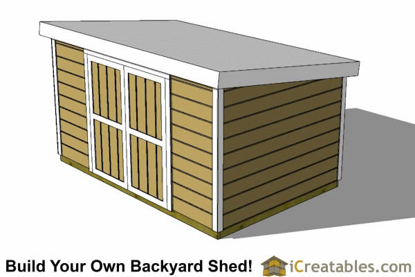 8x12 8 Foot Tall Lean To Shed Plans Short Storage Shed
