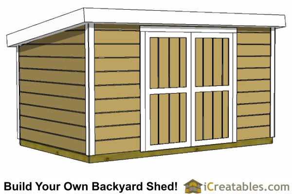 8x12 Shed Plans Buy Easy To Build Modern Designs