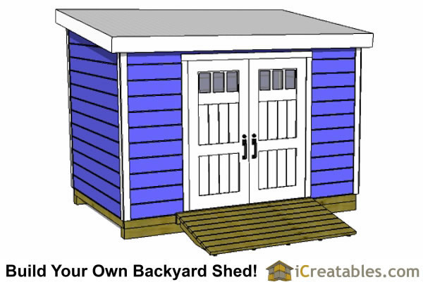 8x12 lean to shed plans with door on low side
