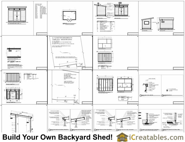 office shed plans. 8x12 Modern Shed Plans Office 2