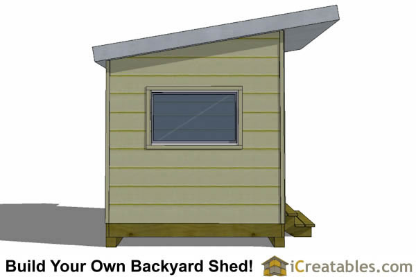 8x12 modern studio shed plan end elevation