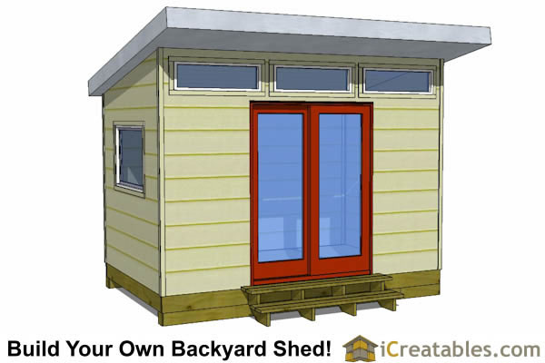 8x12 office shed plans