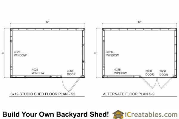 8x12 studio shed plans s2 8x12 office shed plans for 10 x 8 shed floor plans