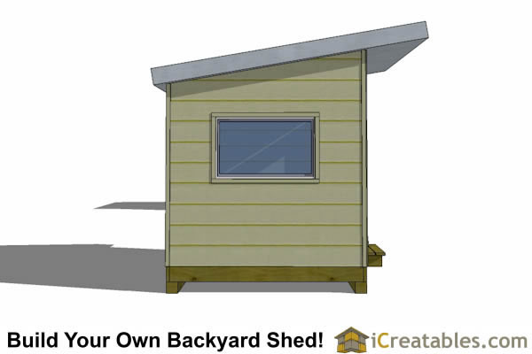 8x12 studio shed plans right side