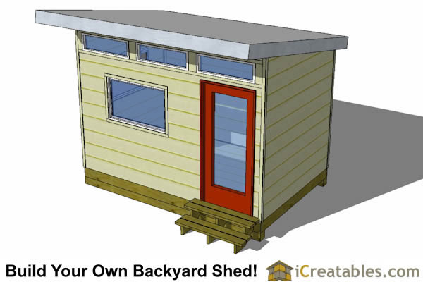 8x12 Studio Shed Plans S2 8x12 Office Shed Plans
