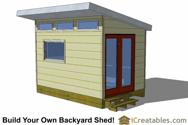 8x12 Modern Shed Plans 8x12 Office Shed Plans Studio