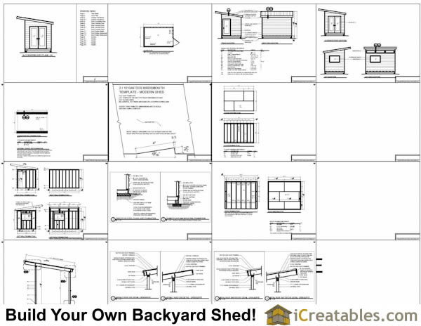 Great 8x12 Modern Shed Plans