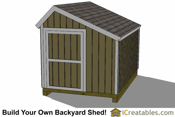 8x12 salt box shed end door
