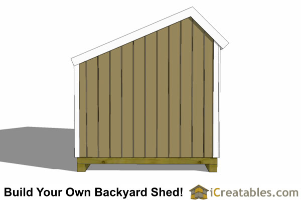 8x12 salt box shed end