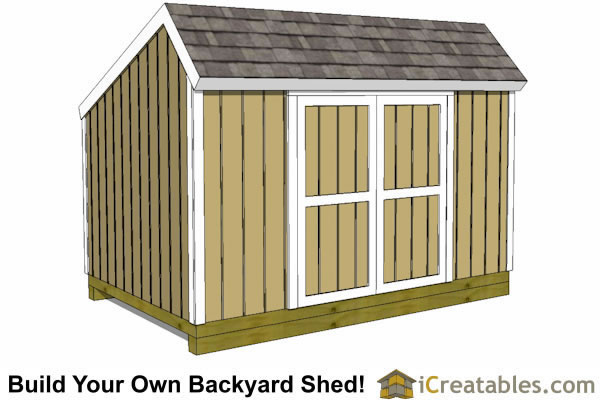 8x12 salt box shed front