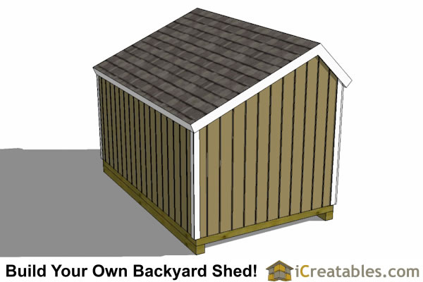 8x12 salt box shed top