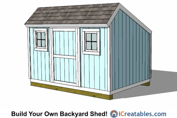 8x12 saltbox shed