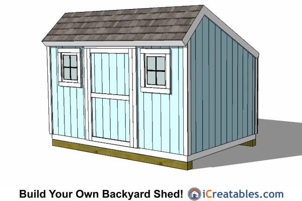 8x12 saltbox shed - Garden Sheds 8 X 12
