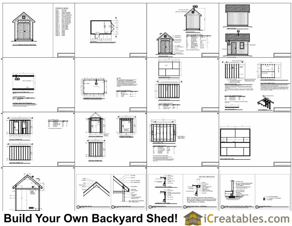 8x12 traditional victorian-shed plans example