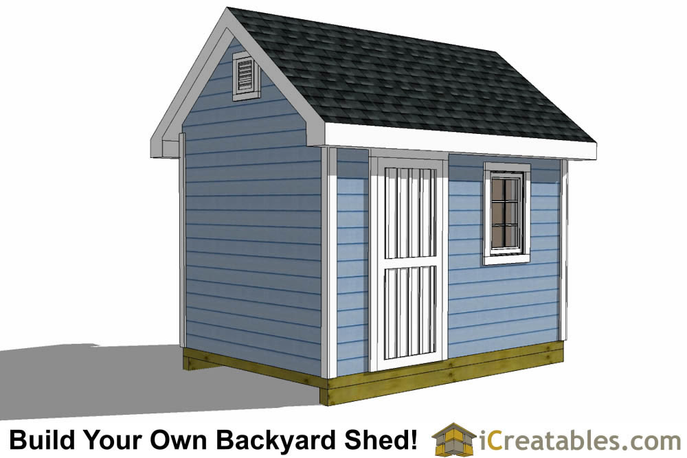 8x12 traditional victorian shed plans elevation