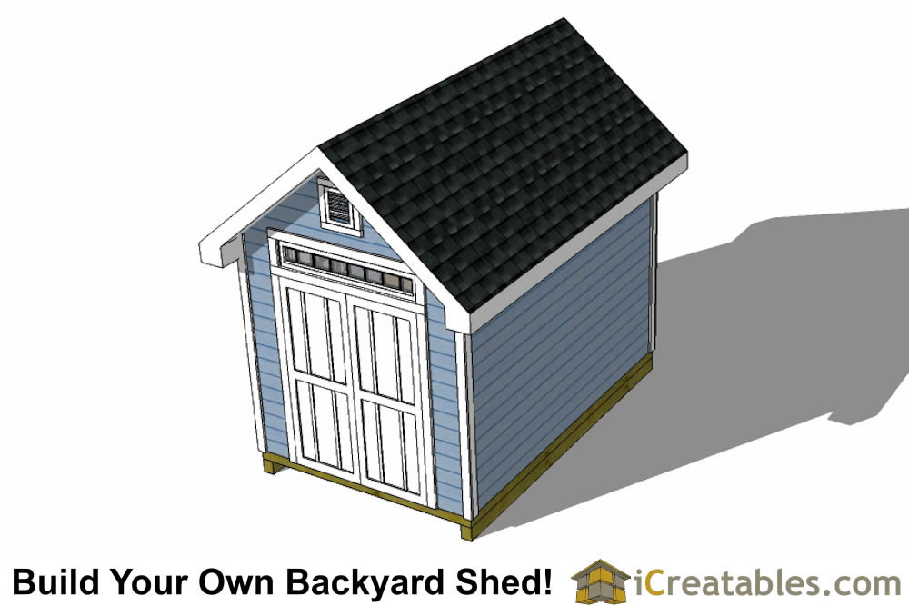 8x12 traditional victorian shed plans left rear