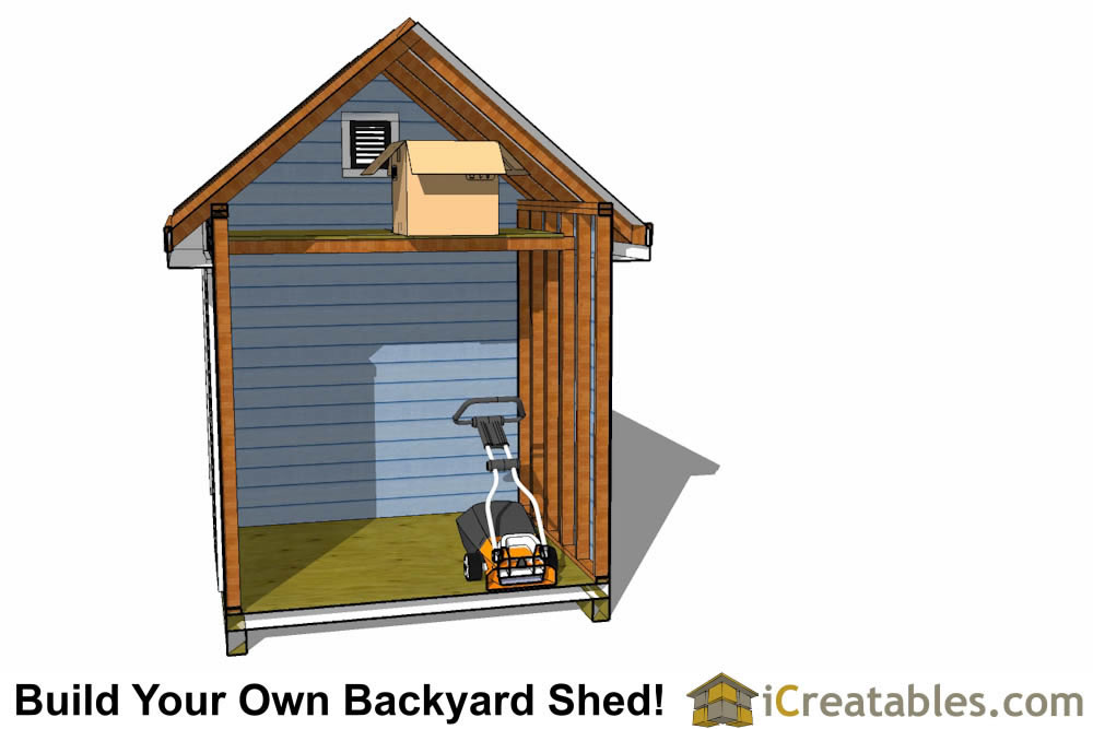 8x12 traditional-victorian-shed-plans-interior storage loft