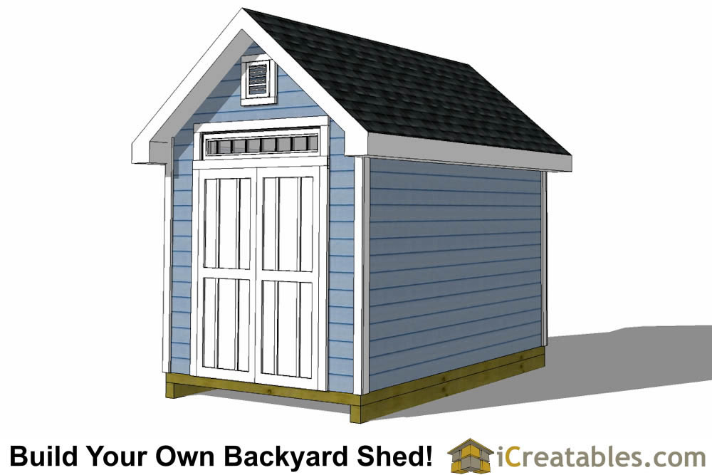 8x12 traditional victorian shed plans right rear