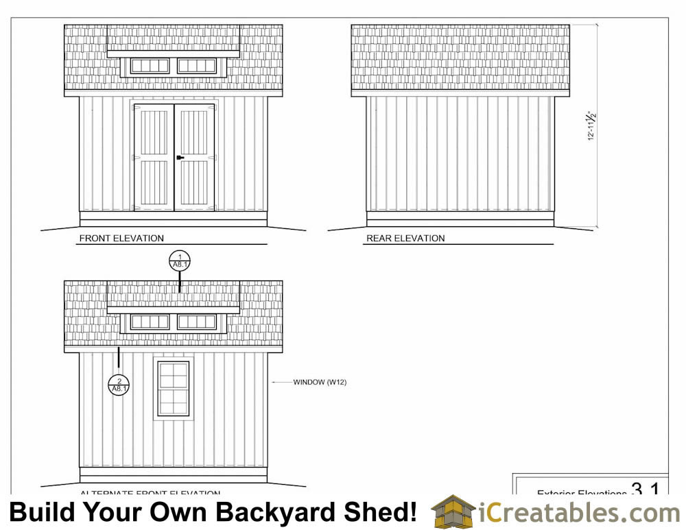 how to build a 8x12 shed