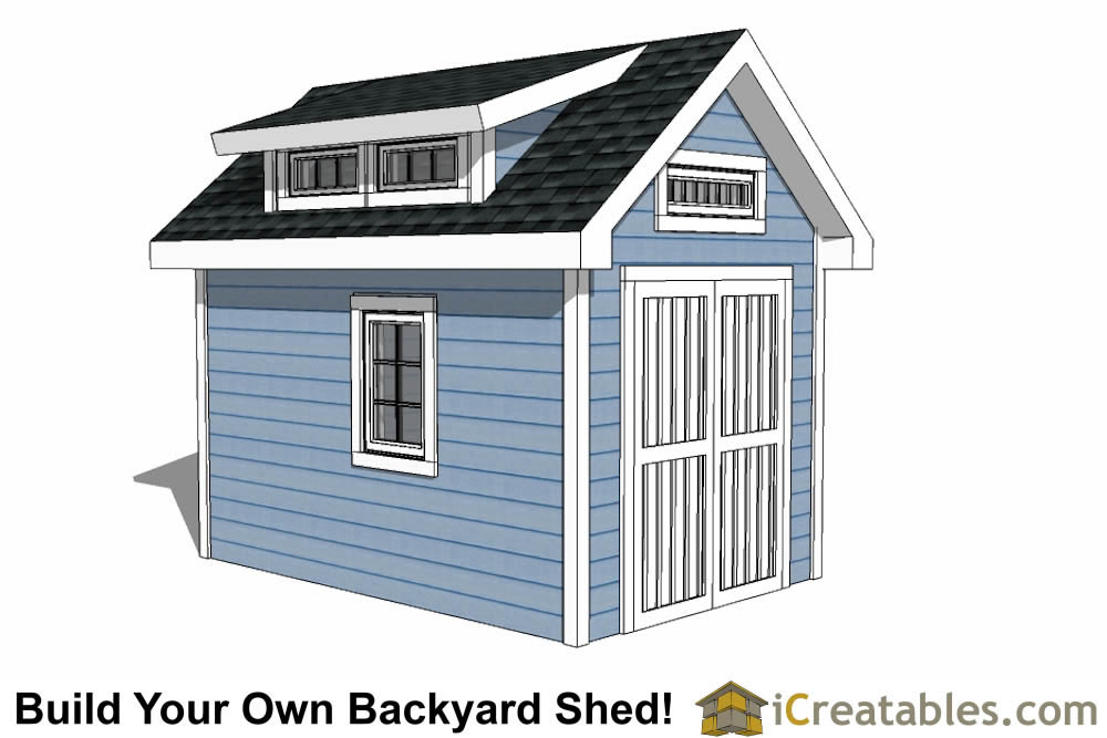 8x12 shed plans buy easy to build modern shed designs for Barn style storage building plans