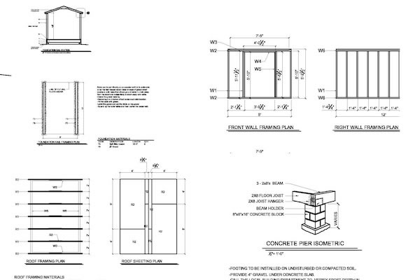 shed plans example