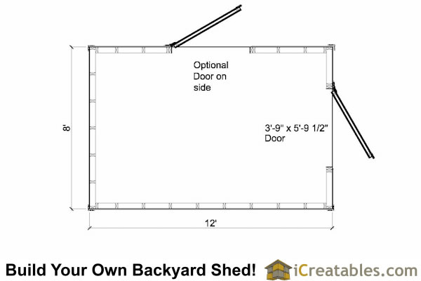 8x12 shed plans floor plan