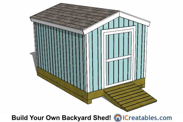 8x12 Gable shed